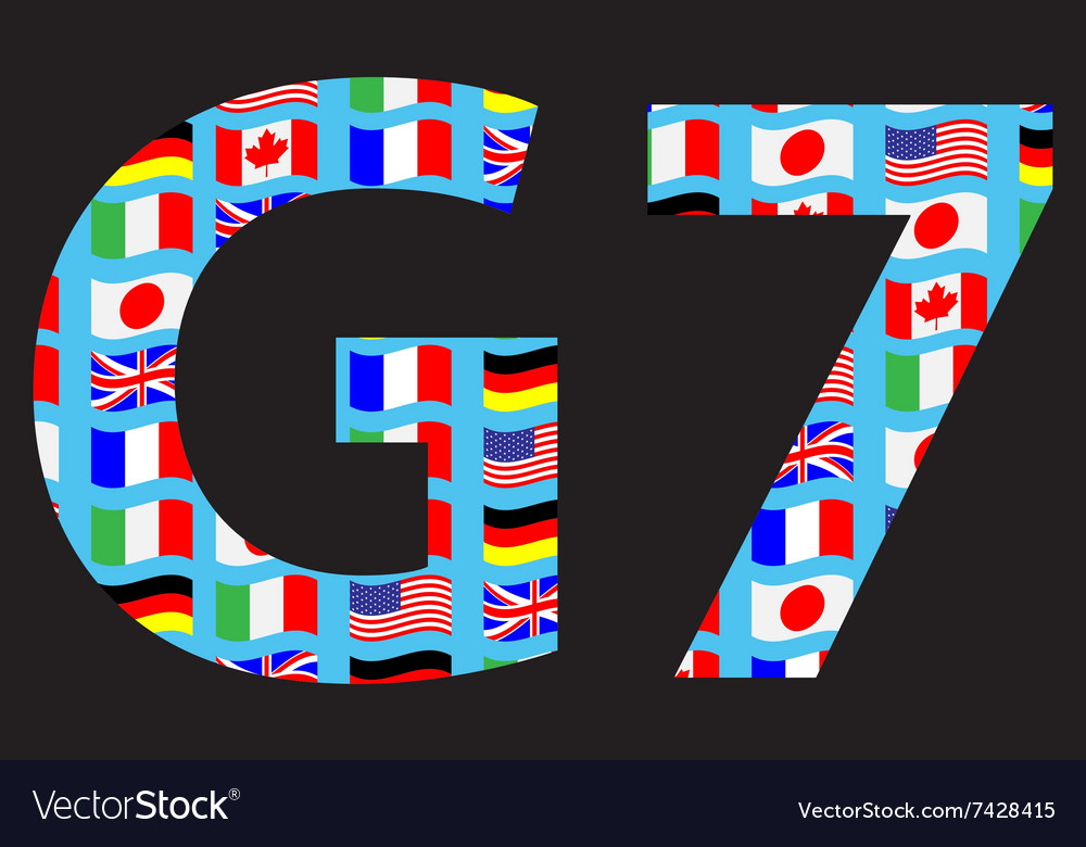 G7 icon pattern flag
