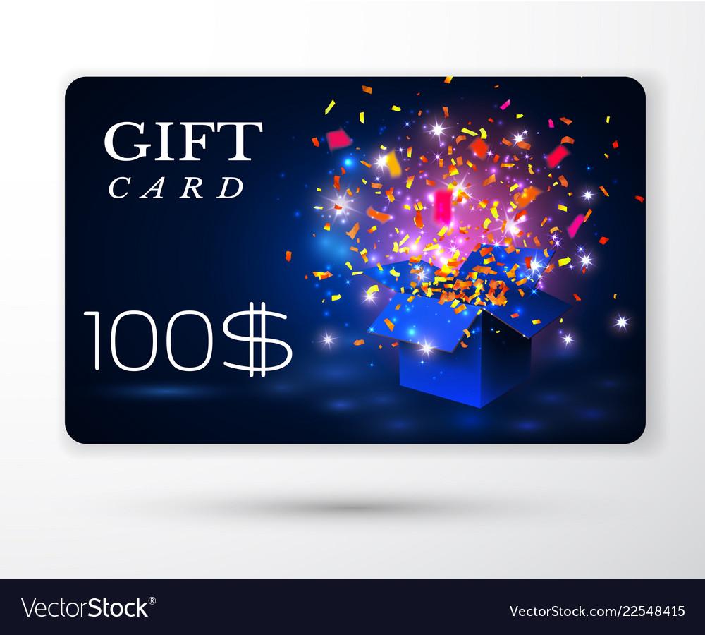 Gift vouchers card