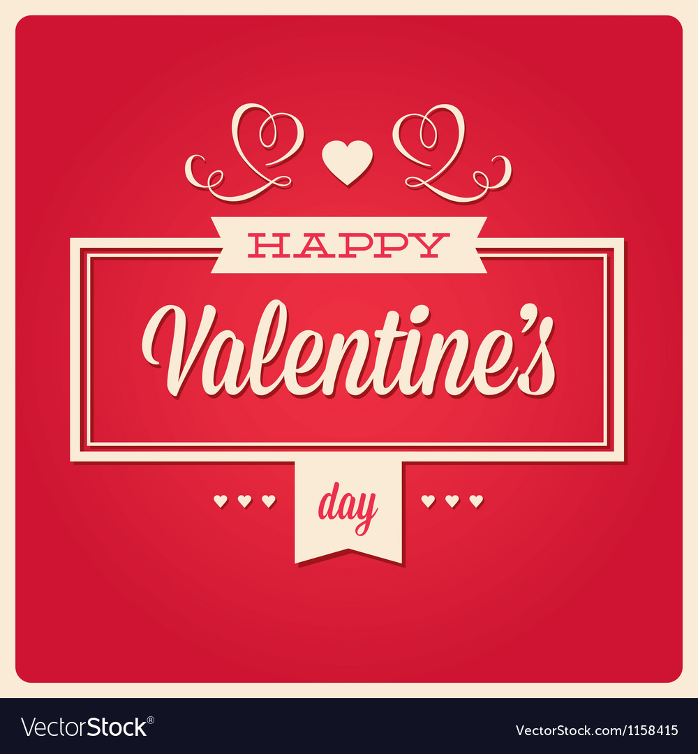 Happy valentines day card ornaments