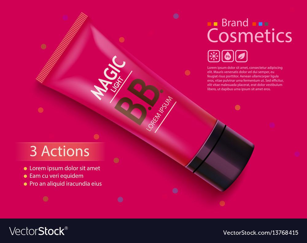 Luxury skin toner bb cream or peeling scrub