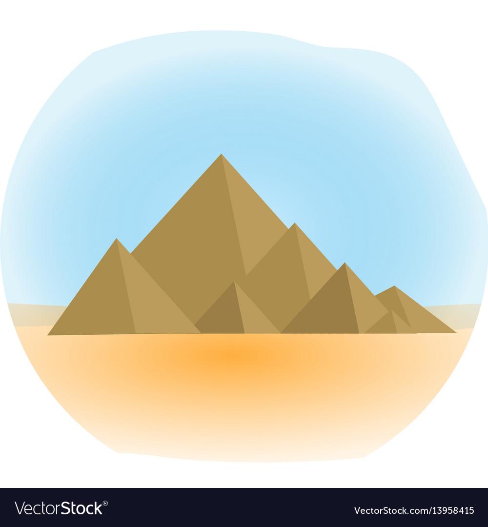 Mountain icon flat cartoon style jewish