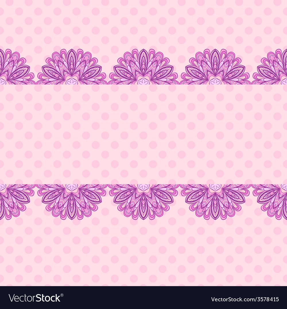 Pink pattern with floral stripe