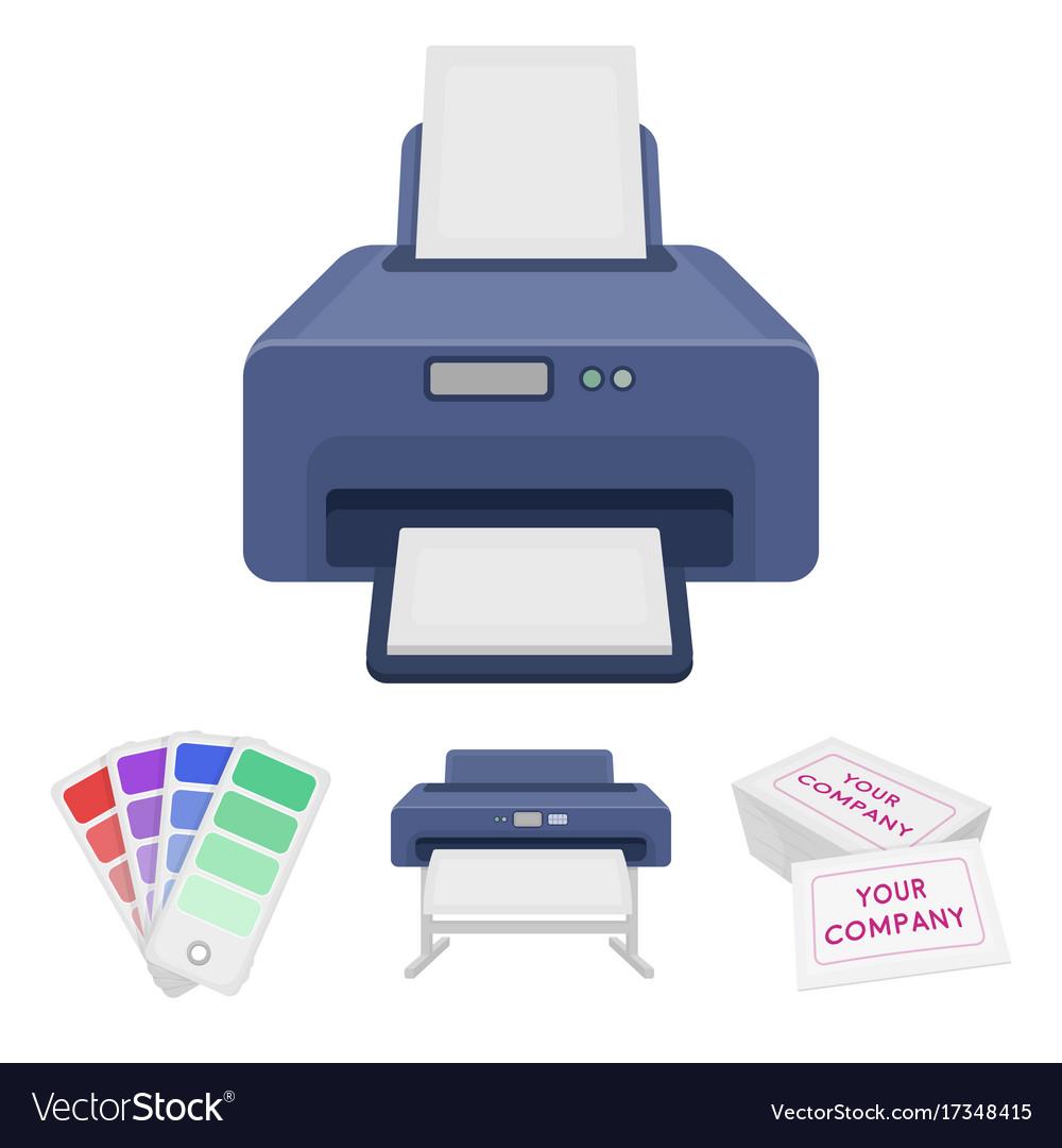 printer credit card color palettetypography set vector image - Credit Card Printer