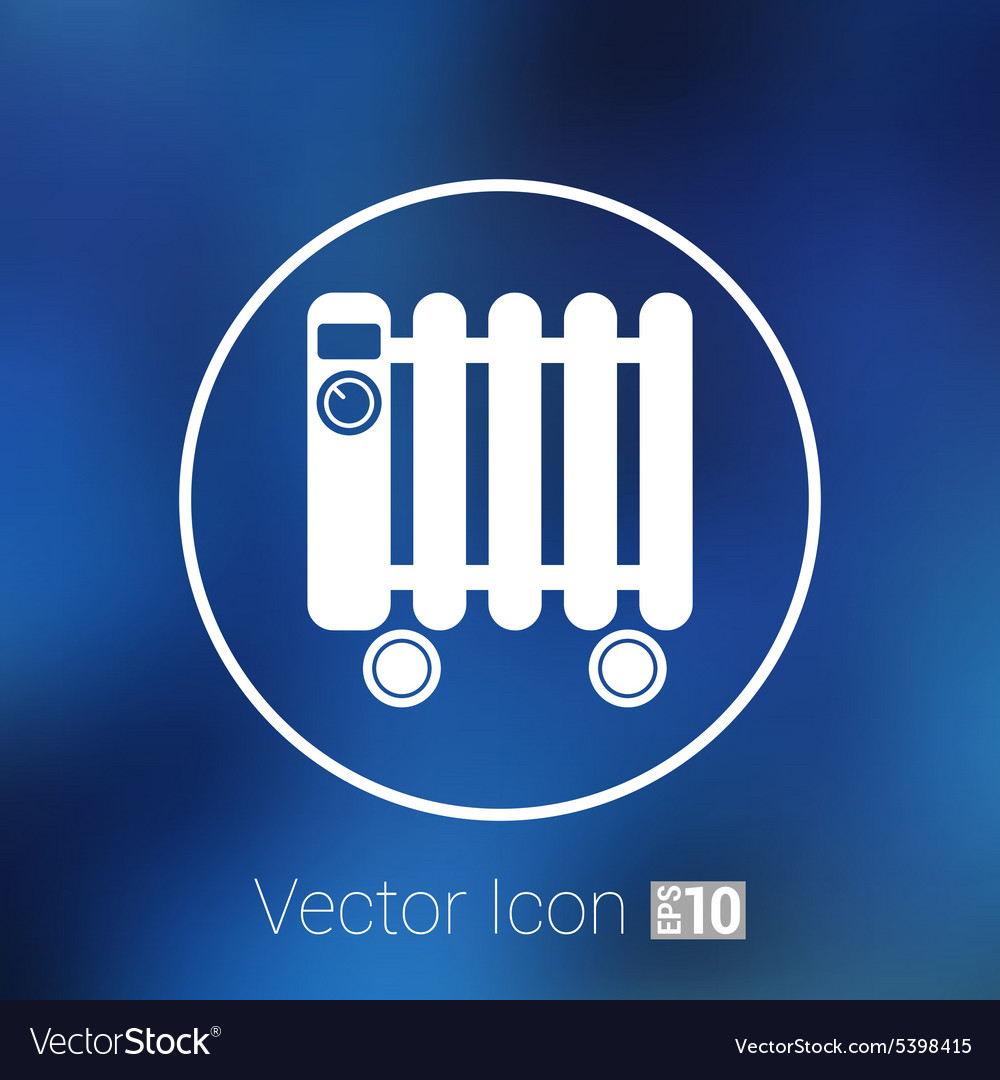 Typical Heater Filled Radiator Icon Symbol Vector Image Common Electrical Symbols