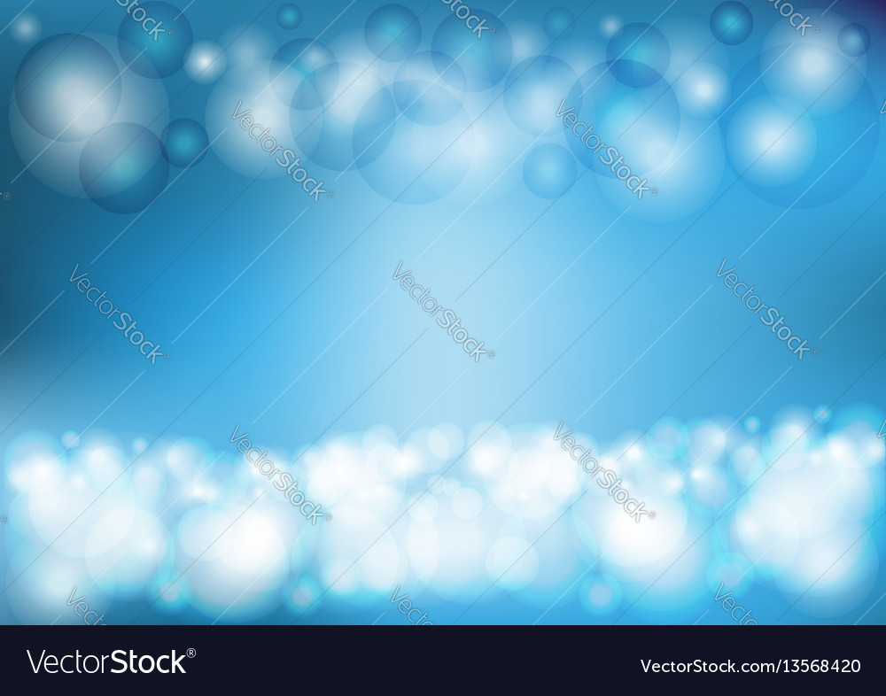 Circular light blue background vector image