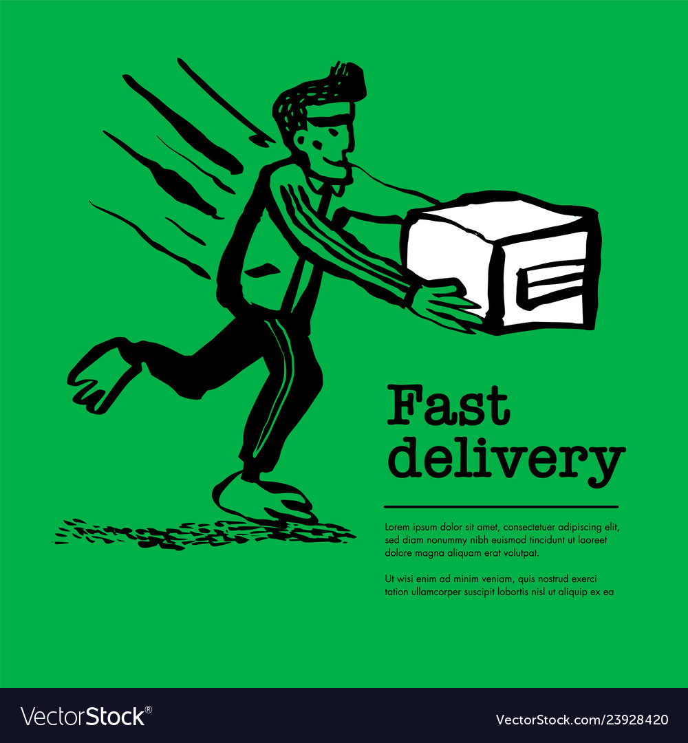 Delivery service concept web banner with delivery