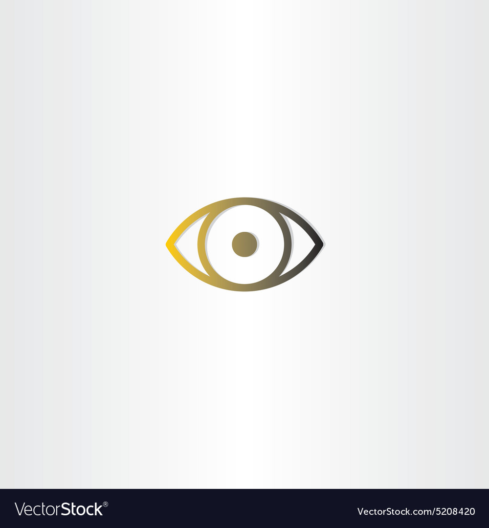Eye icon line design vector image