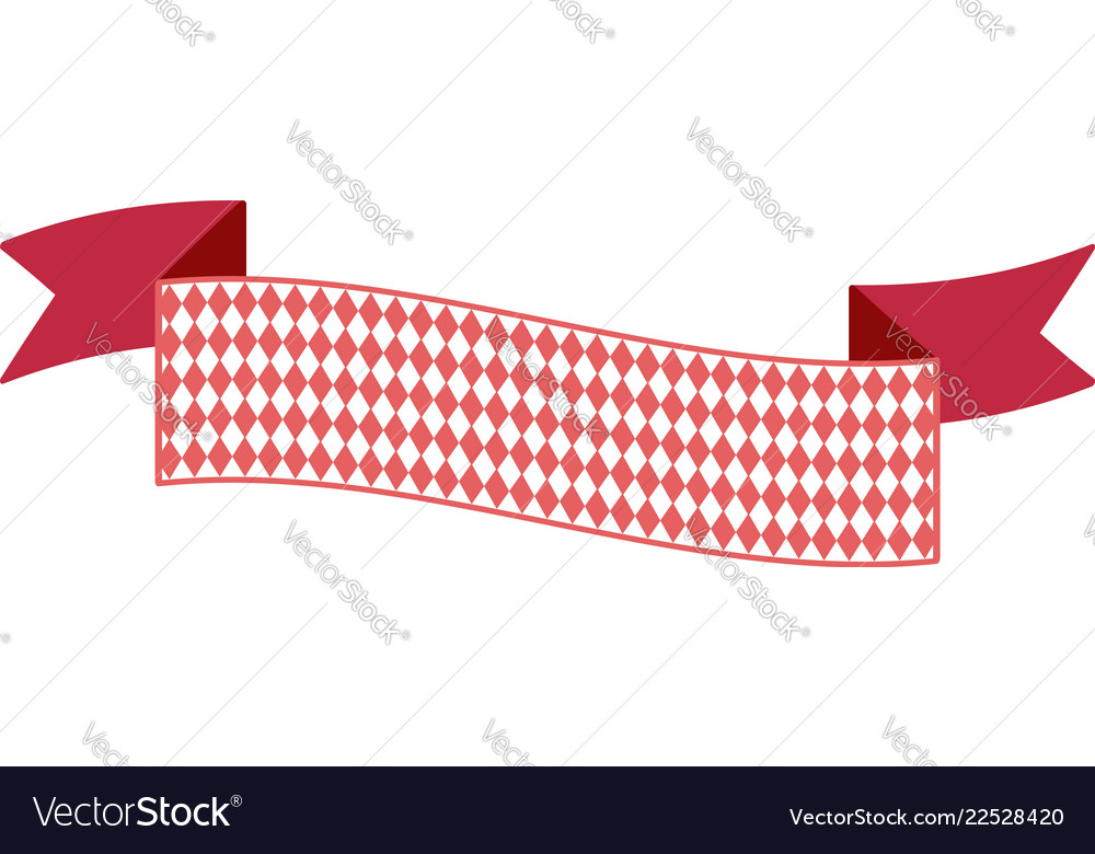 Oktoberfest simple ribbon for banner and headline