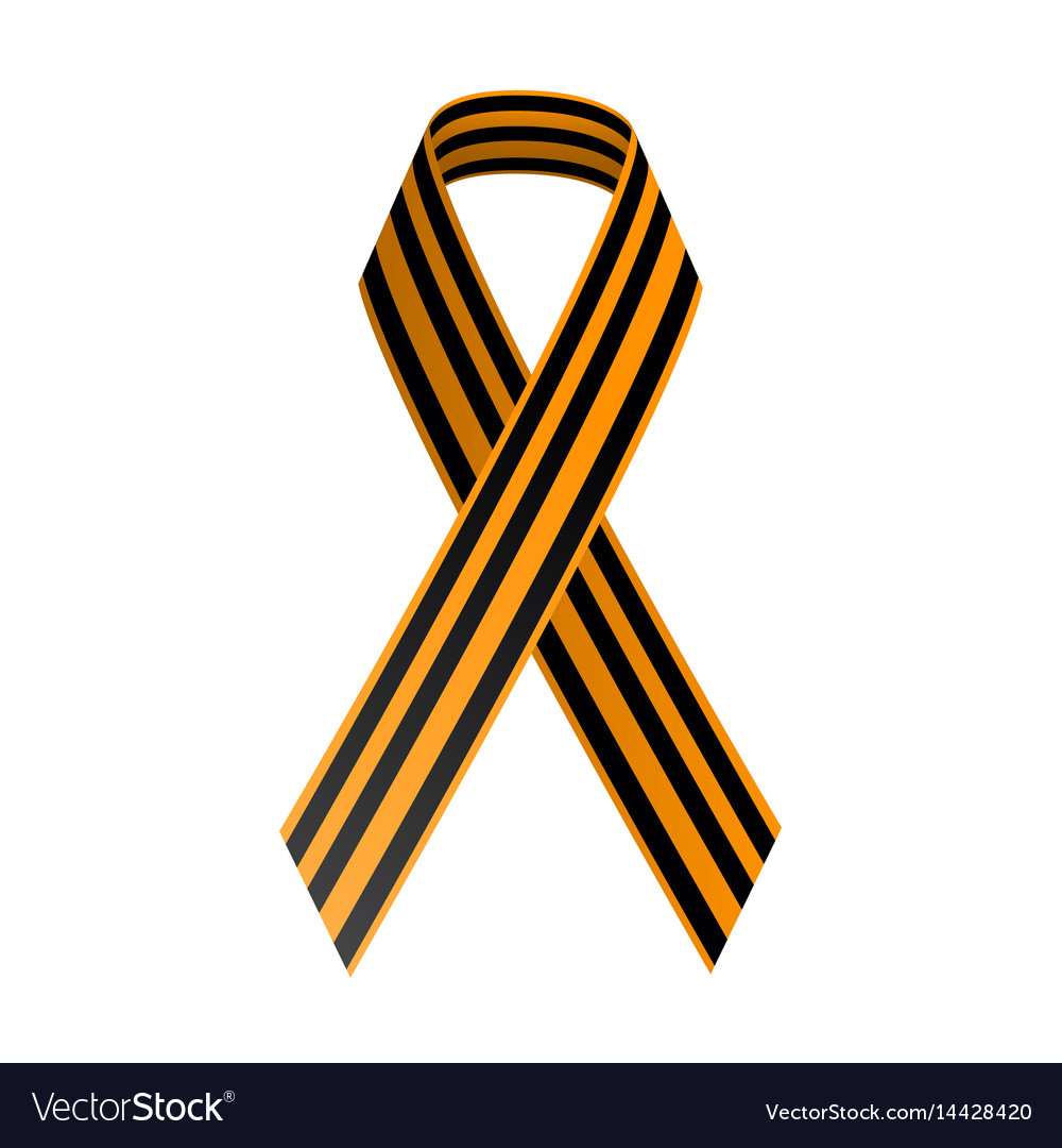 St george black and gold ribbon may 9 happy