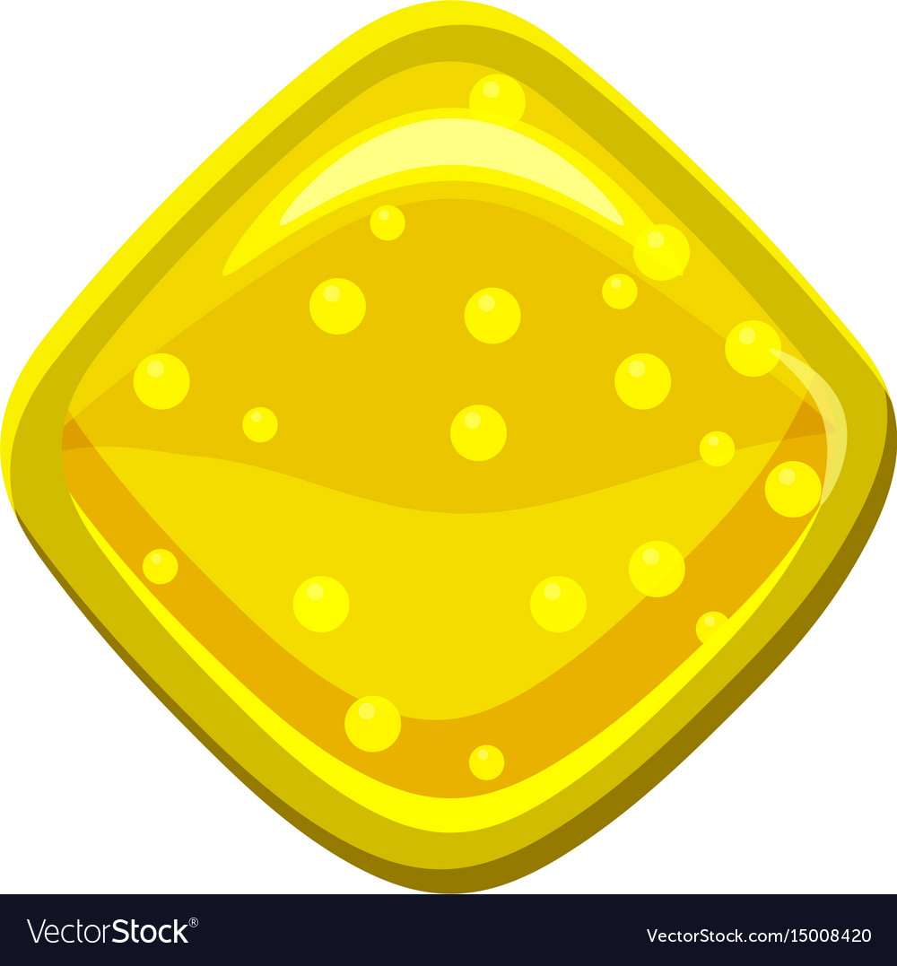Yellow candie icon cartoon style