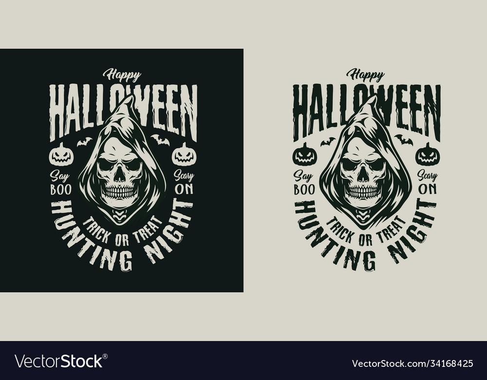 Happy halloween vintage label