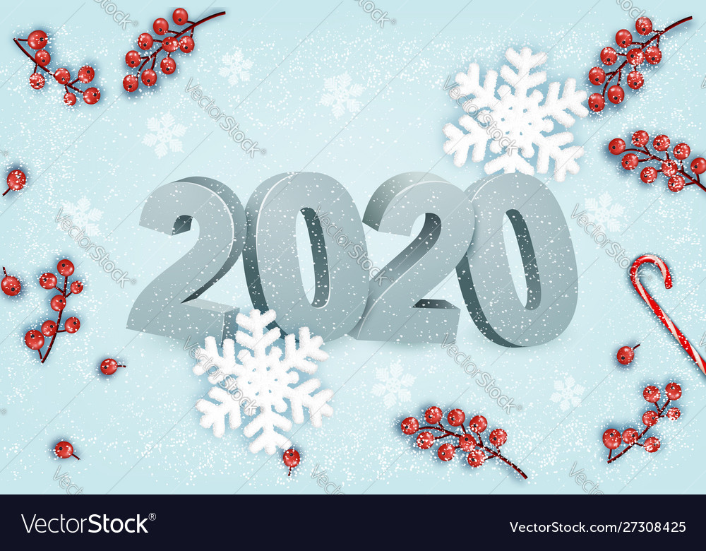Happy new year background with a 2020 and