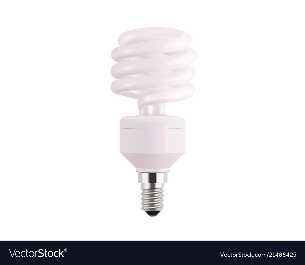 Light bulb realistic isolated