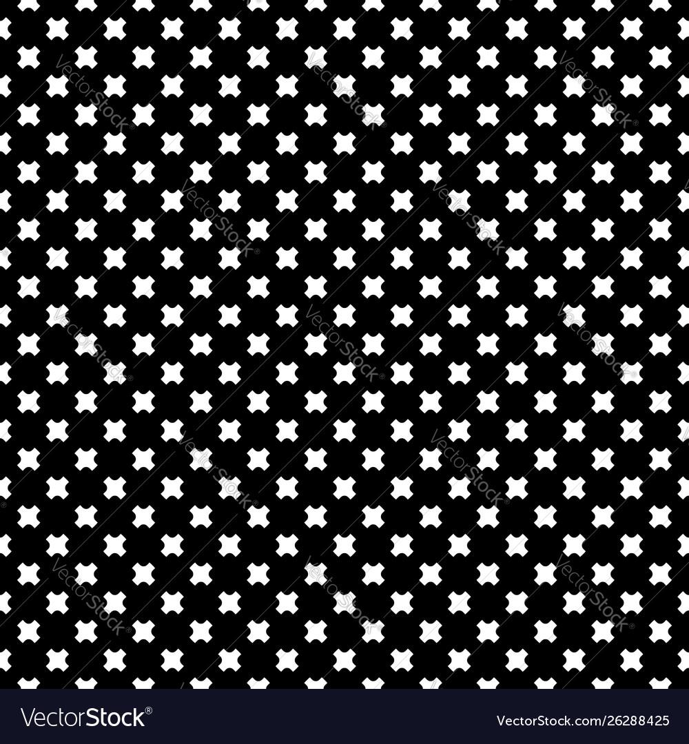 Seamless pattern white crosses on black