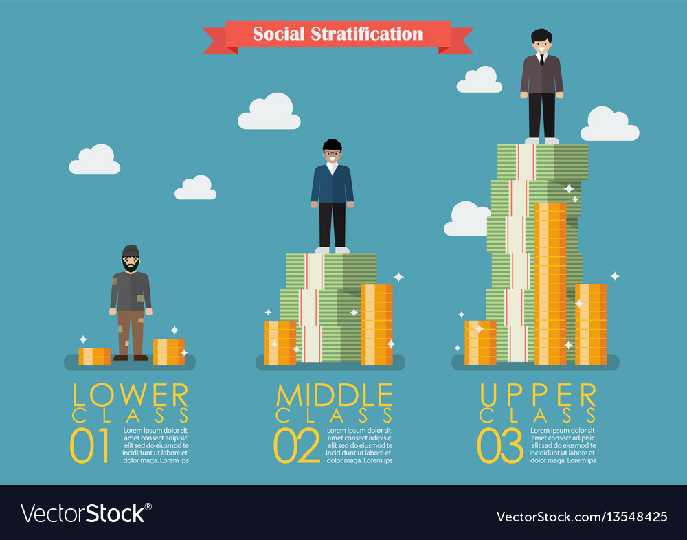 social stratification with money infographic vector image