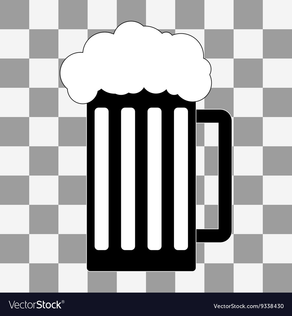 Black beer icon on a transparent