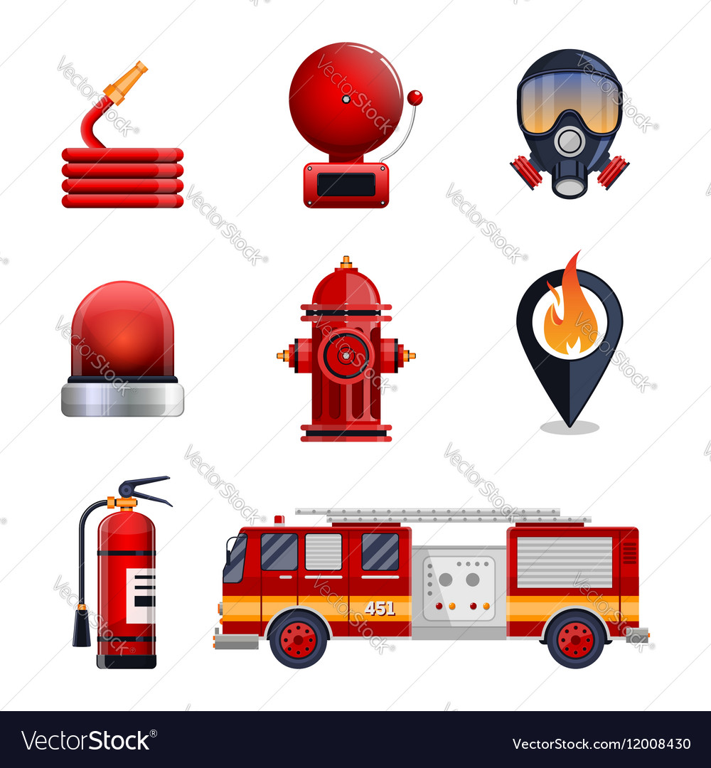 Firefighter elements set collection
