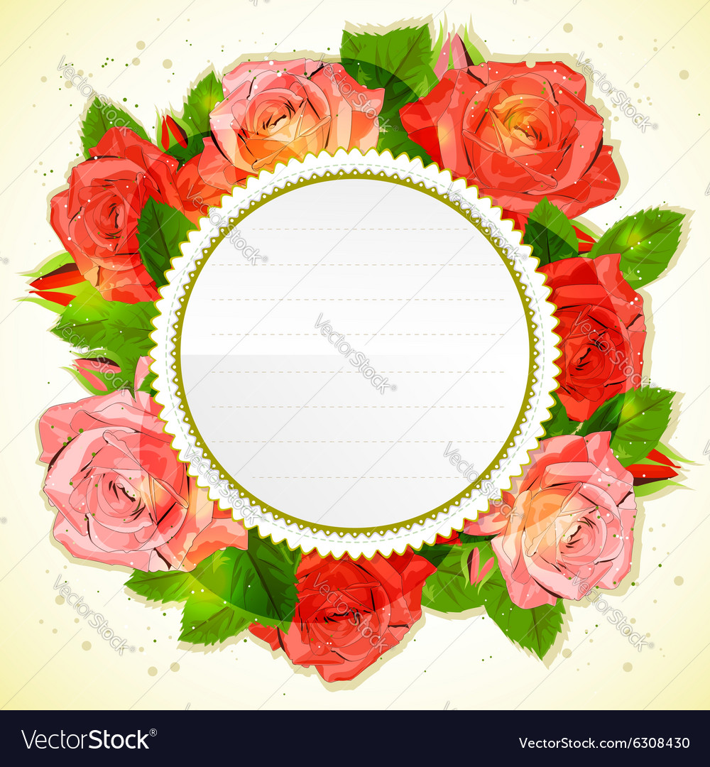 Floral decorative card with roses