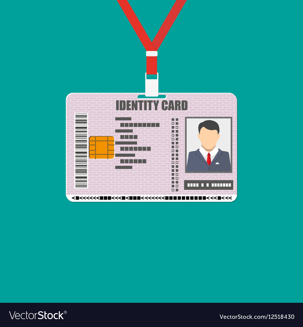 Id card with lanyard national identity