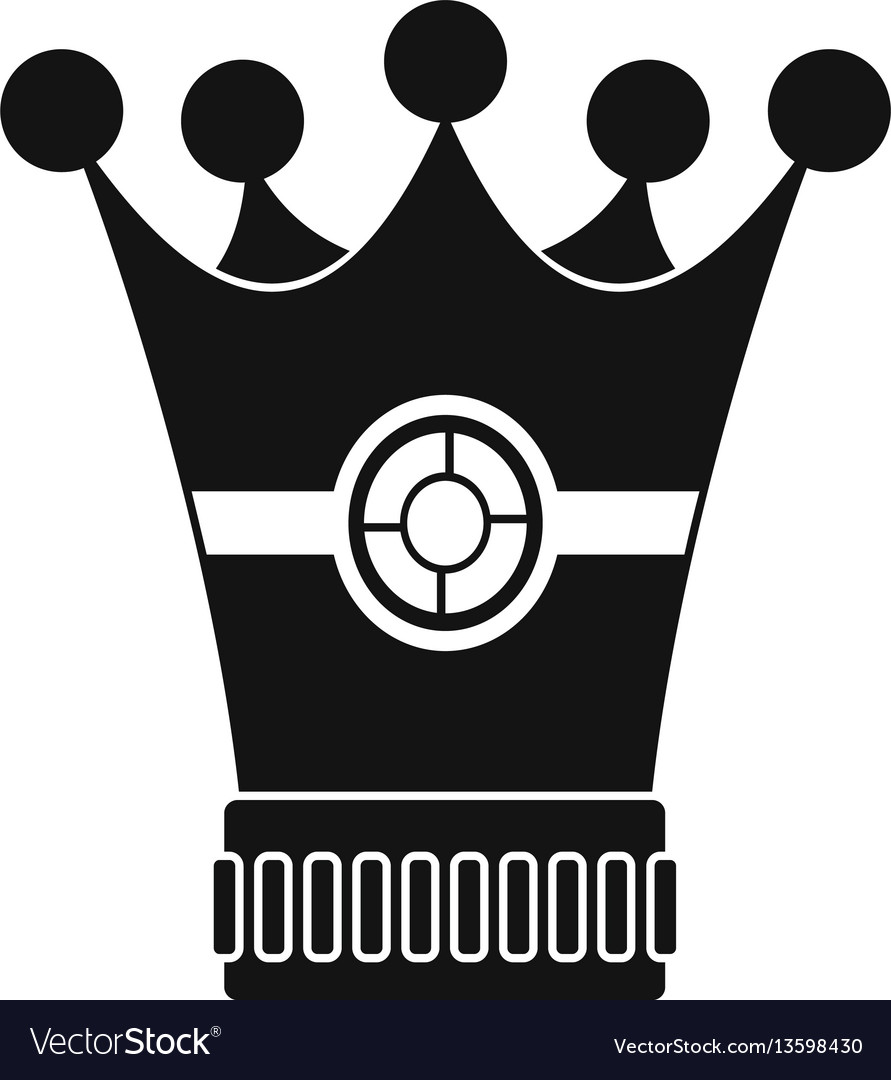 Medieval crown icon simple style