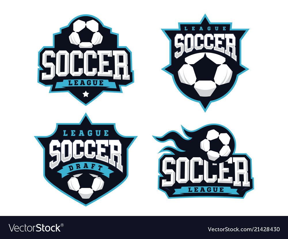 Modern professional soccer logo set for sport team