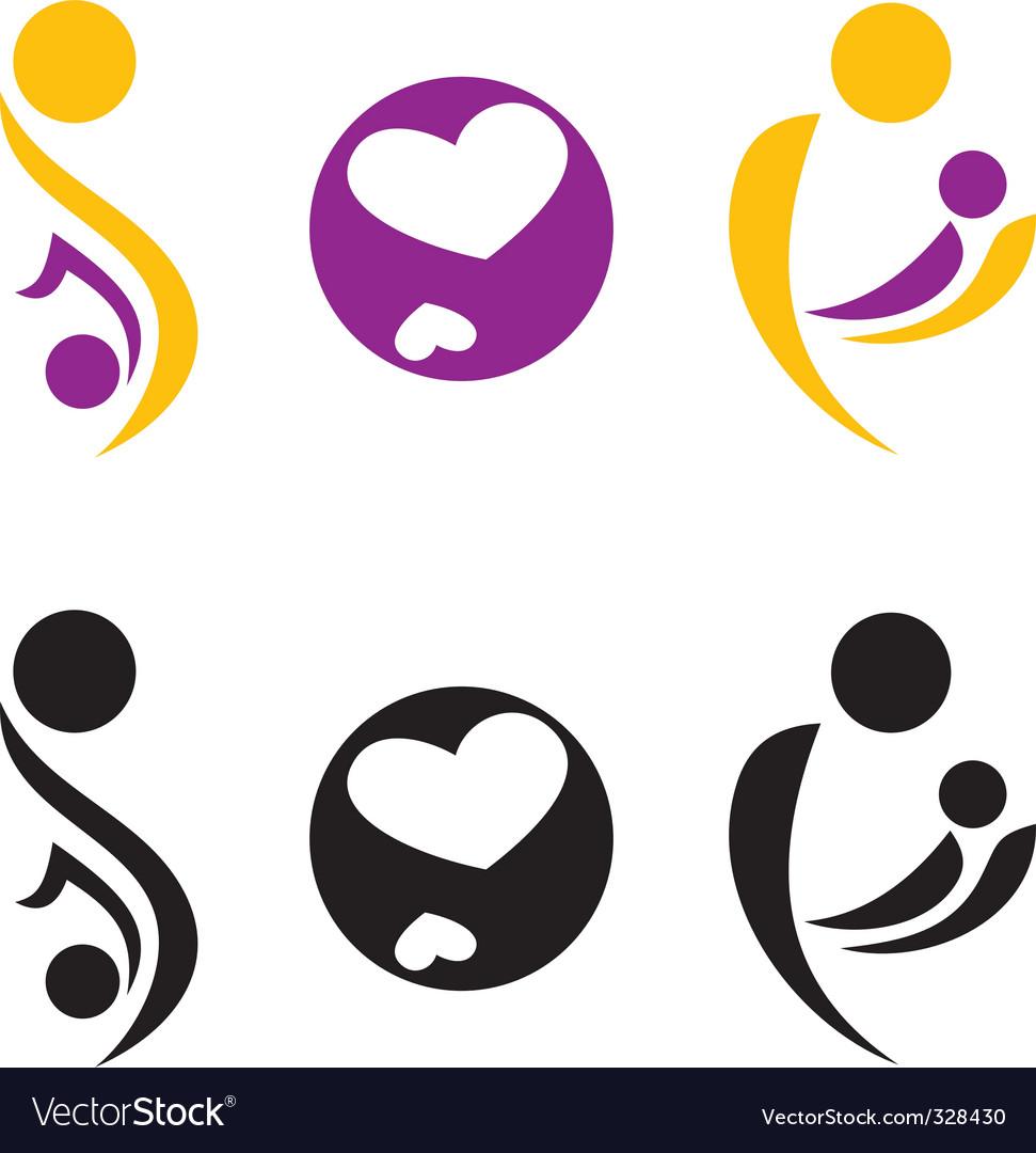 Pregnancy And Motherhood Symbol Royalty Free Vector Image