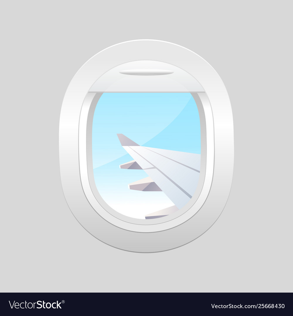 View From Airplane Window Plane Royalty Free Vector Image