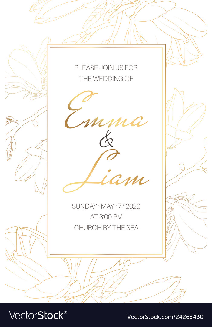 Wedding Marriage Event Invitation Card Template