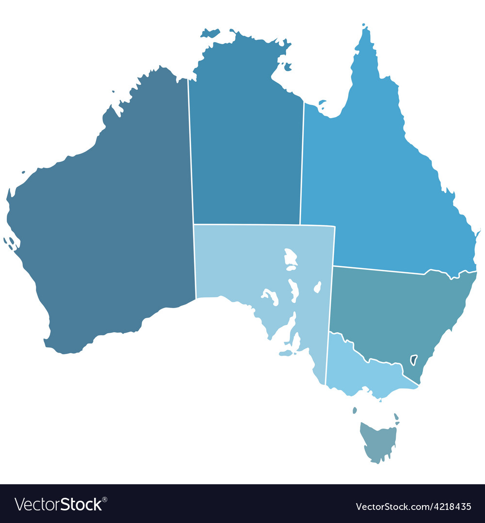 Australia Map Vector.Australia Silhouette Map