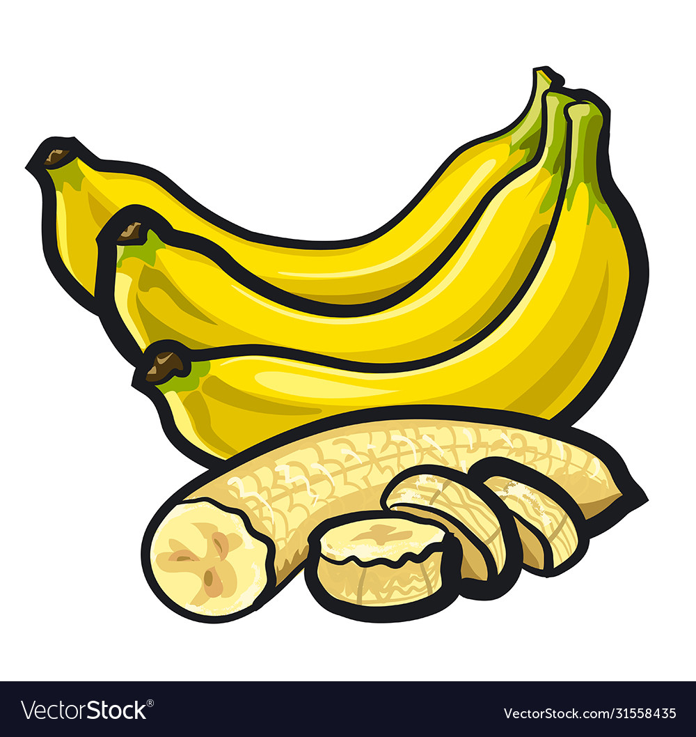 Bananas with skin