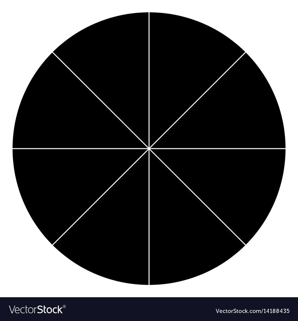 blank polar graph paper protractor pie chart vector image rh vectorstock com pie chart vector psd pie chart vector free download