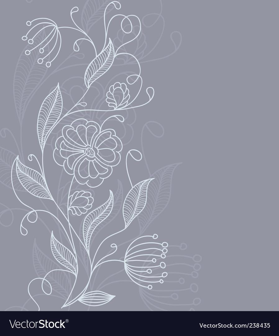 Floral back grey