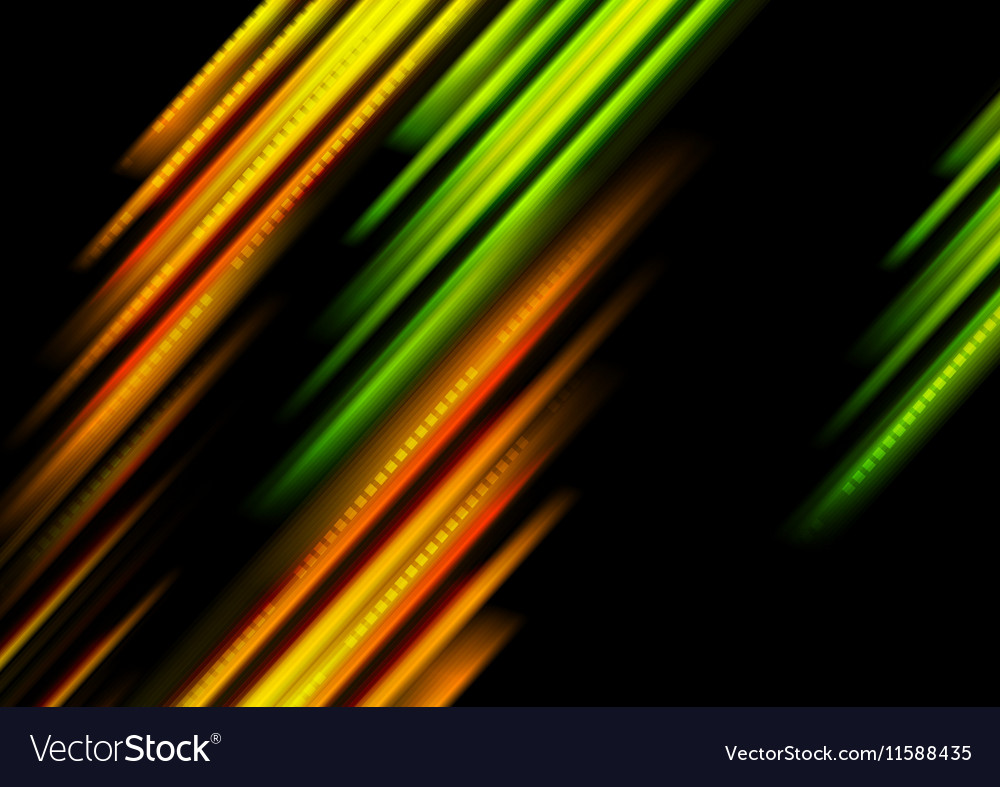 Glowing green and orange stripes background