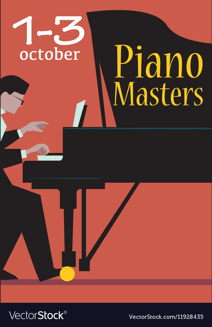 Live Concert of Piano Masters Poster vector image
