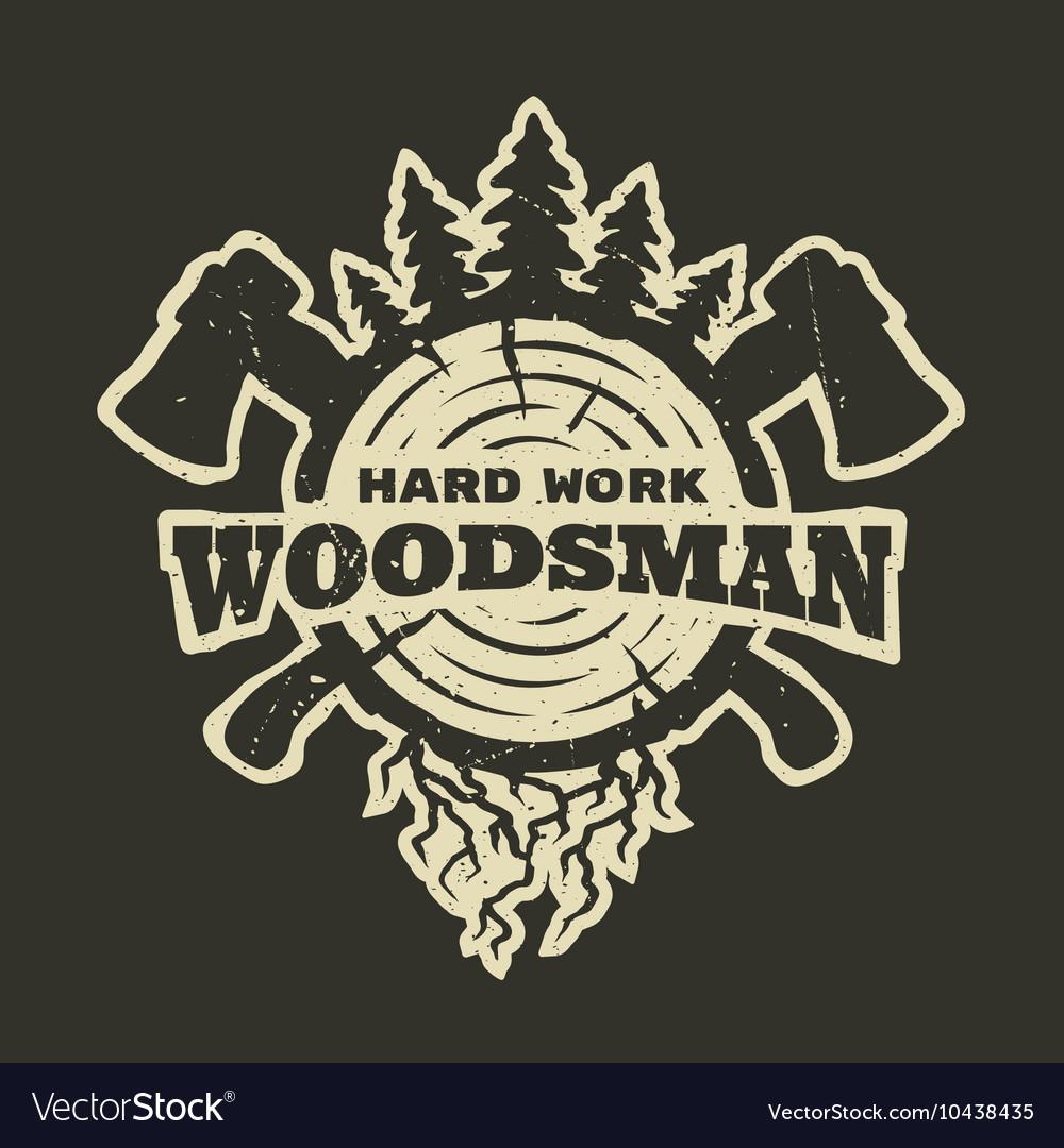 Lumberjack emblem t-shirt design