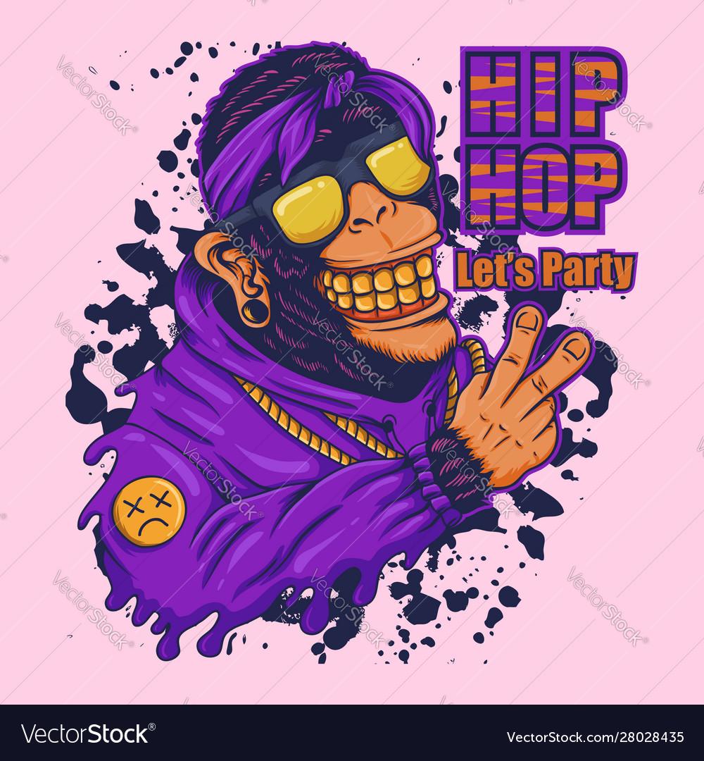 Monkey hip hop party