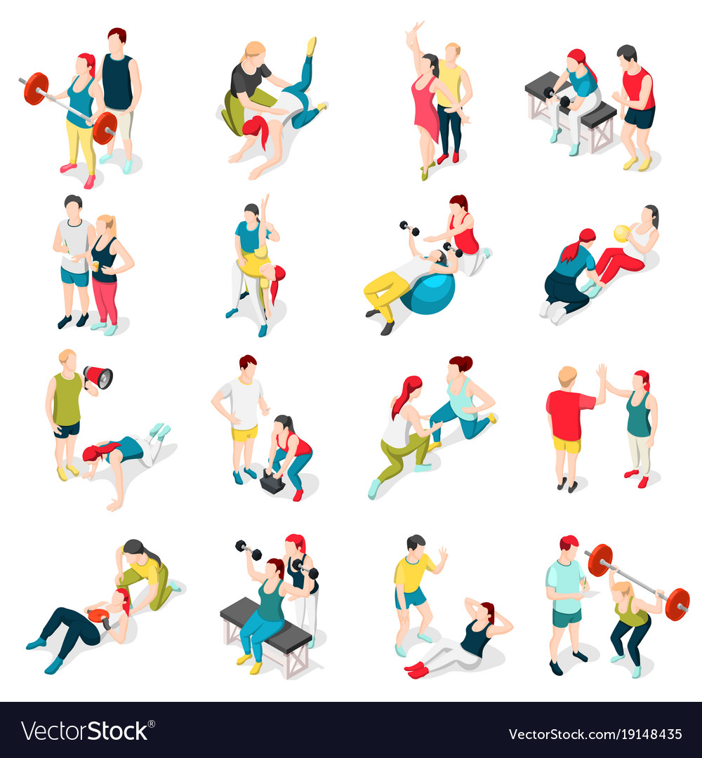 Personal trainer sport icons