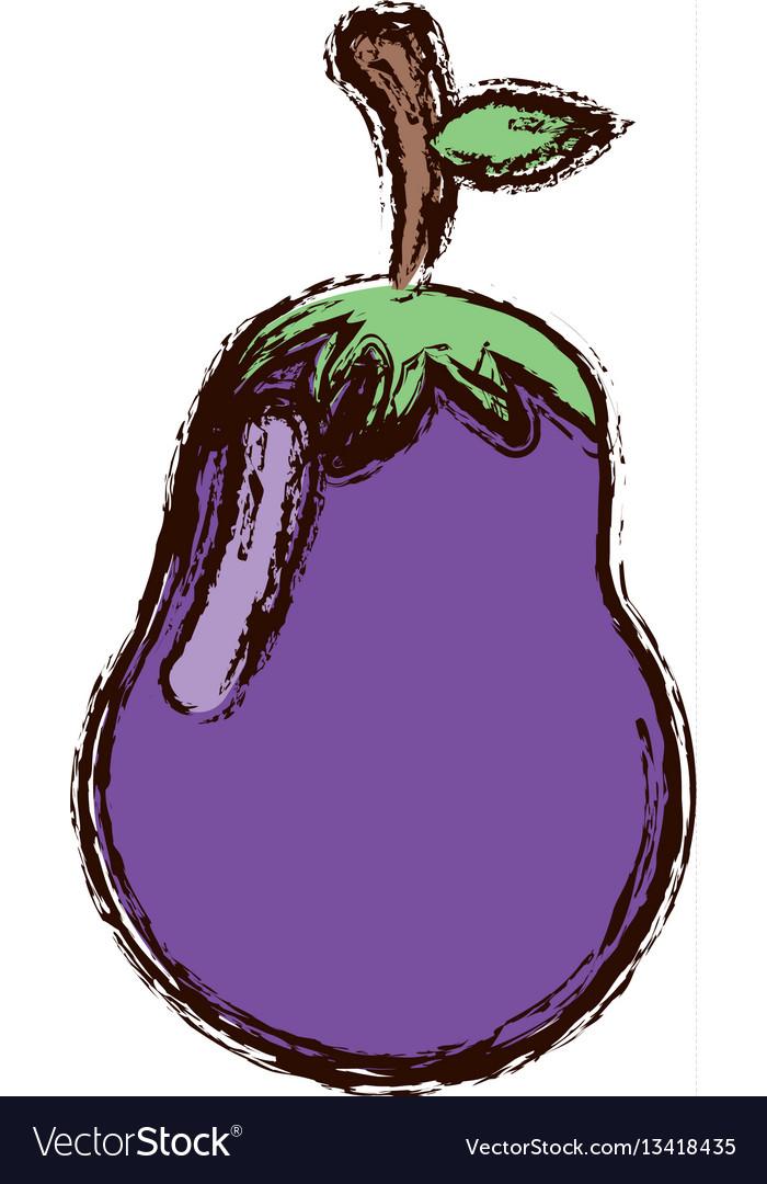 Purple vegetable eggplant icon