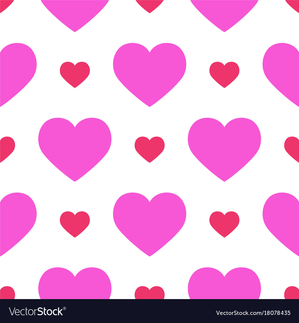Simple red heart sharp seamless pattern