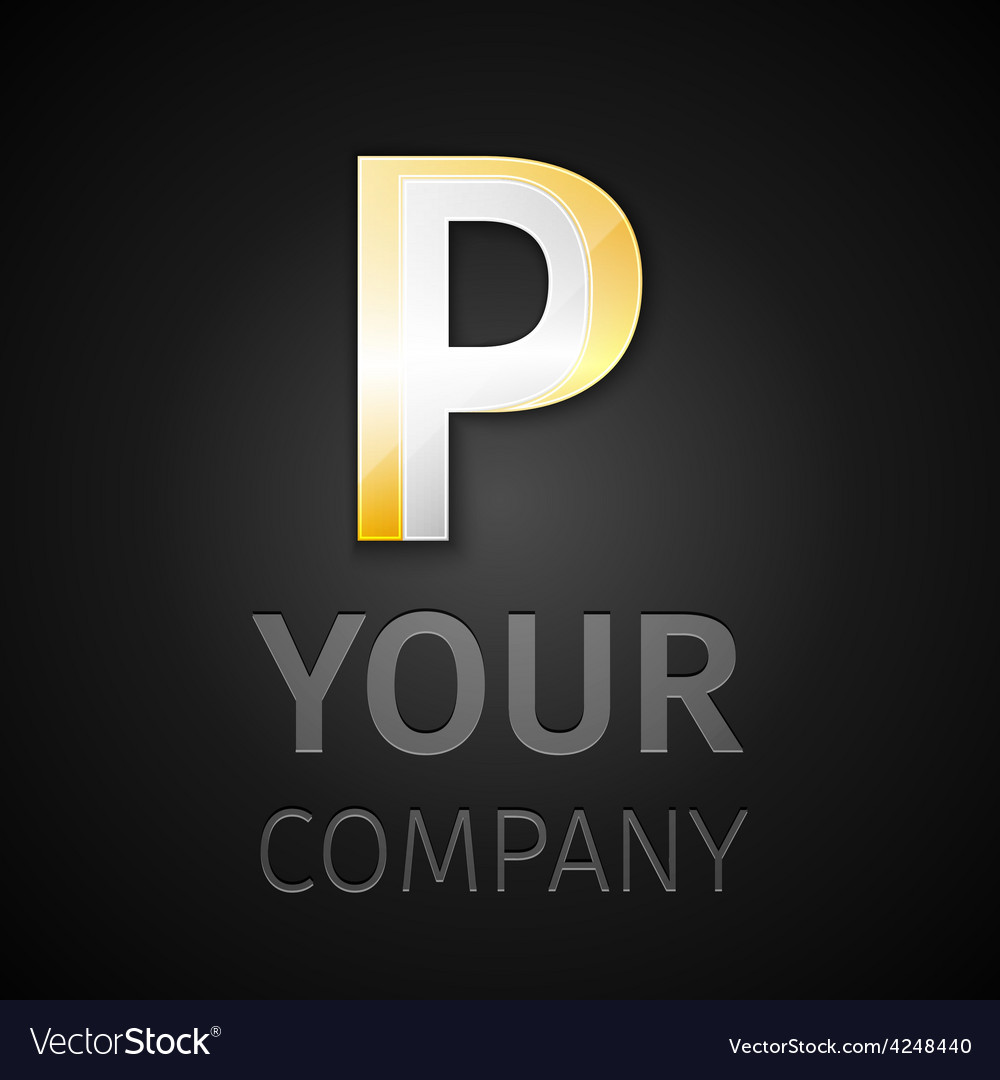 Abstract logo letter P