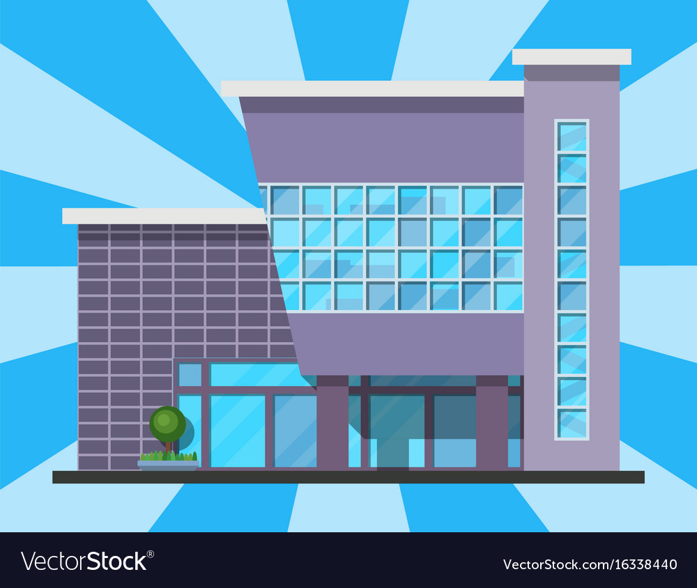 City building modern tower office architecture vector image