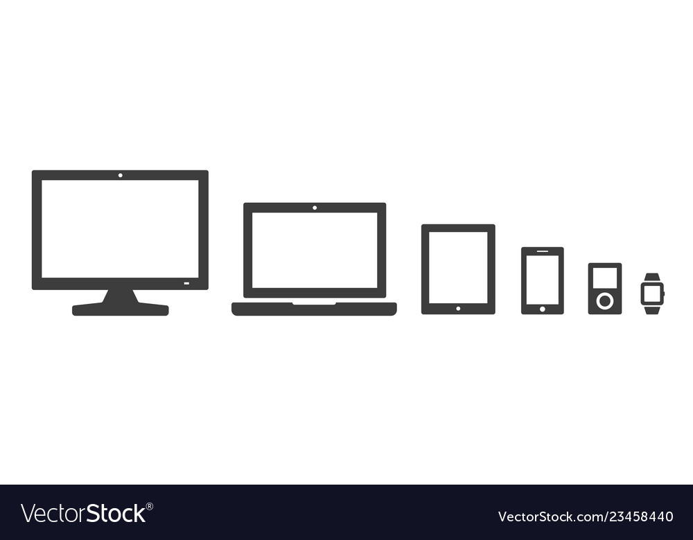 Computer and devices icon set