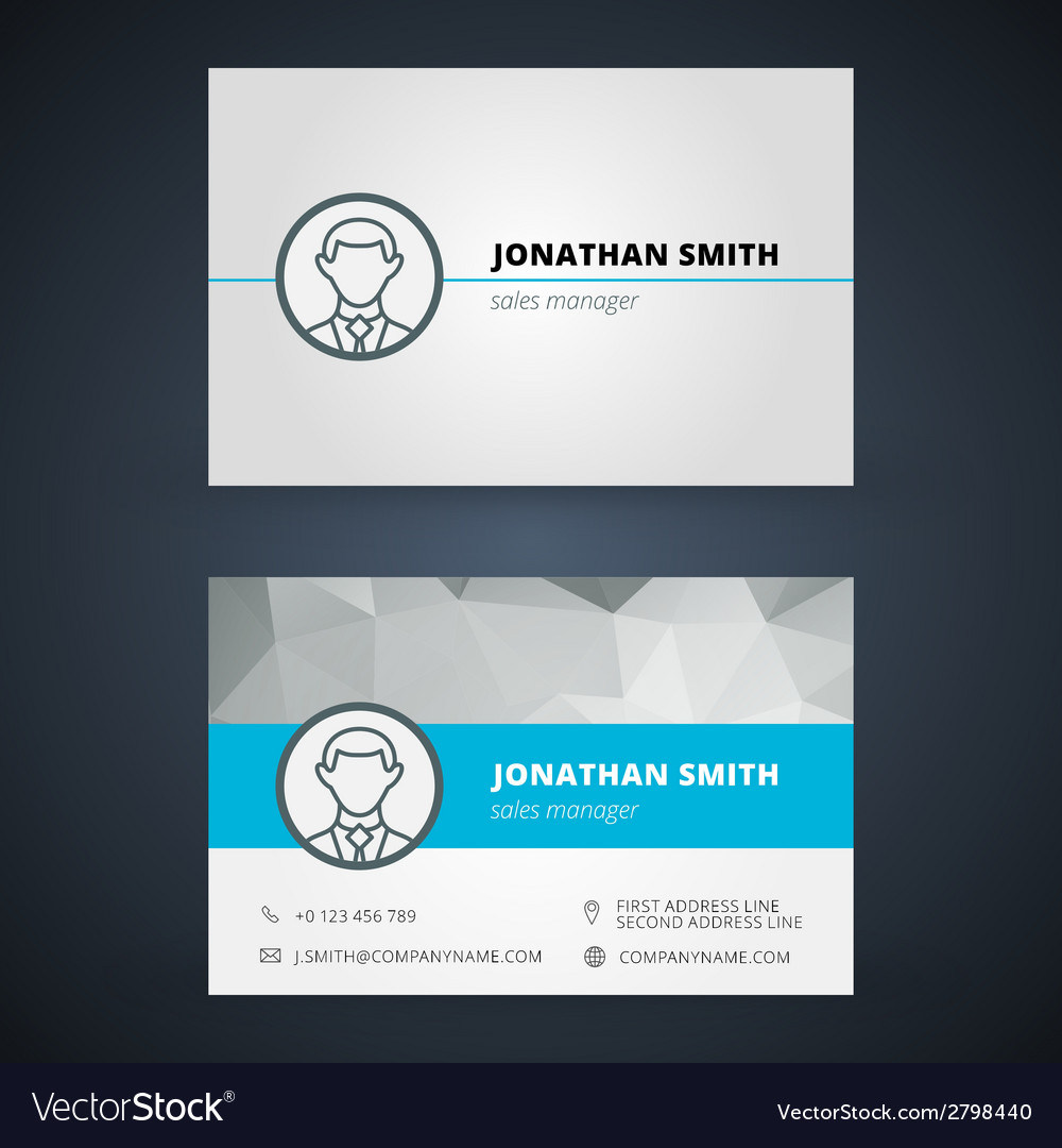 Creative business card design print template vector image friedricerecipe Choice Image