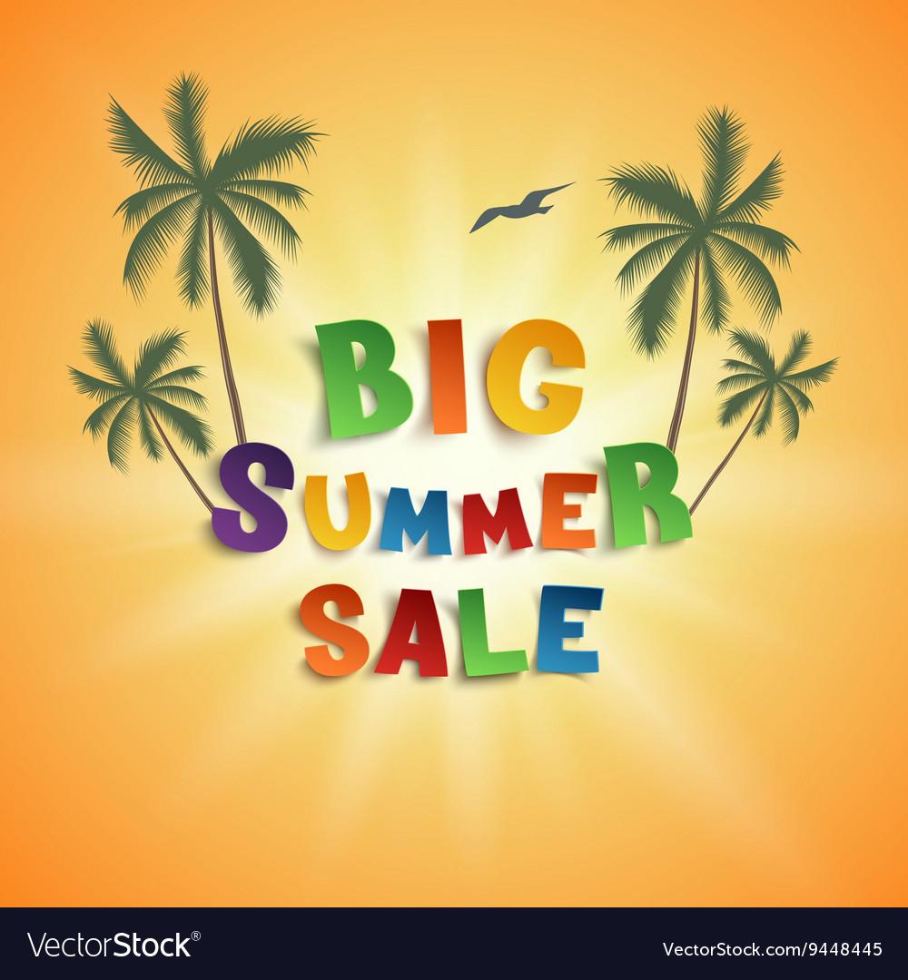 Big summer sale poster template vector image