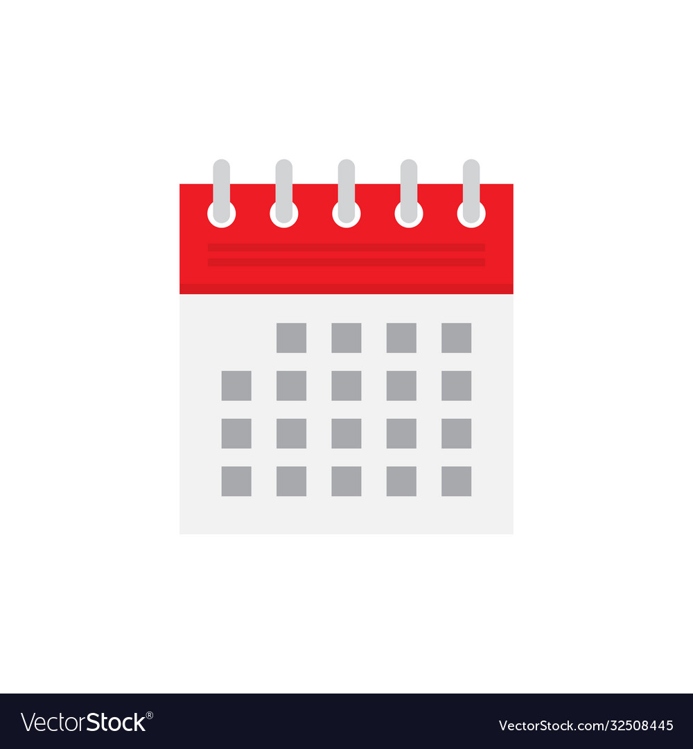 Calendar flat icon isolated on white background