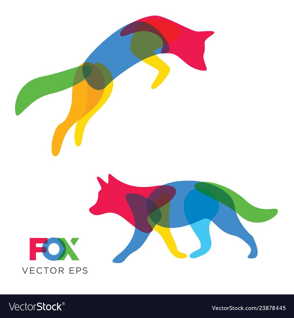 Creative fox wolf animal design