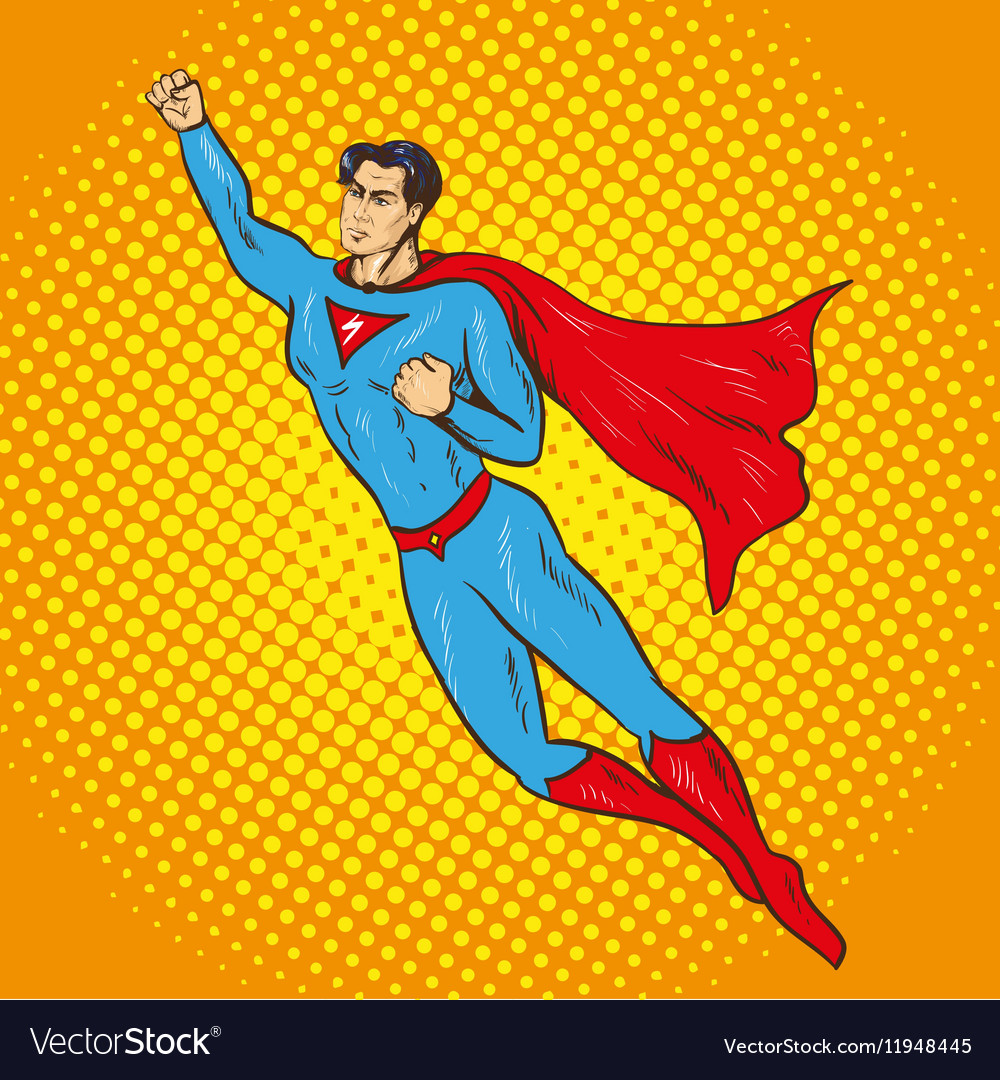 Flying up superman retro