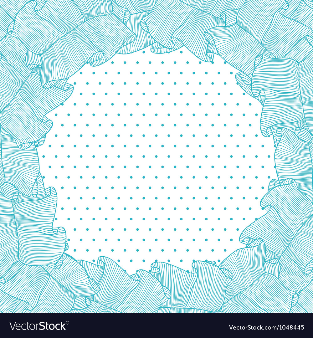 Lace frills frame vector image