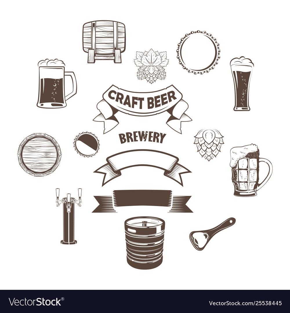 Set craft beer element