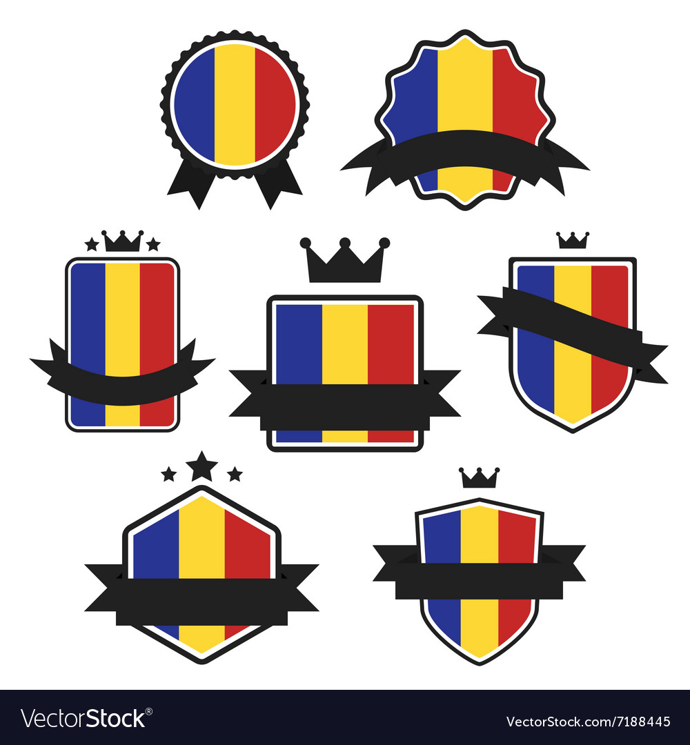 World Flags Series Flag of Romania vector image